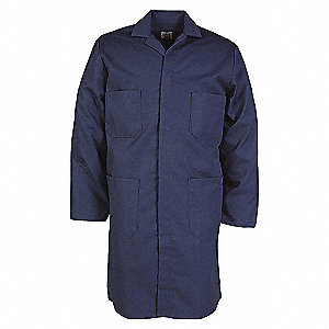 COAT LAB/SHOP MENS DRILL NAVY SZ 44