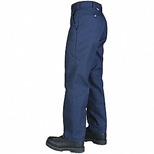PANTS WORK REG FIT 65/35 58 32 NAVY