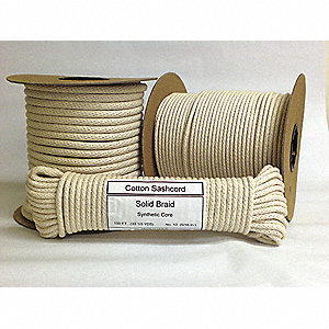 CORD SASH #8 COTTON 1/4X550FT REEL