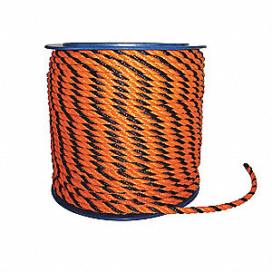 ROPE ORG/BLK BARRIER 1/2 X600 REEL