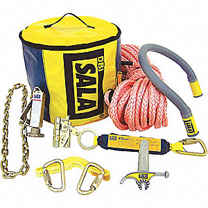 POLE ANCHOR SYS, 80  ROPE, ACC, BAG