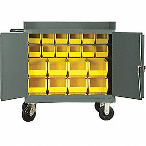 CABINET MOBILE LOUVERS 20 BINS