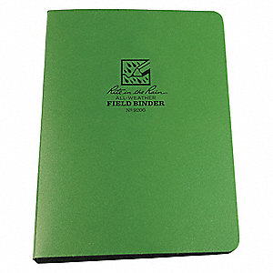 "1/2"" 6-Ring Field Binder, Green, 100-Sheet Capacity"