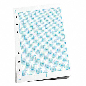 "Loose Leaf Paper, All Weather, Metric Field Rule, 4-5/8 x 7"" Sheet Size"