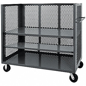 Stock Cart With 3-Sides,2000 lb.,Steel