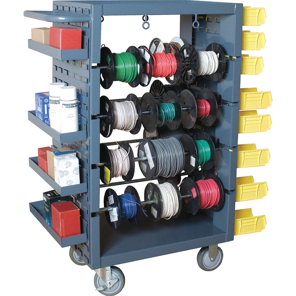 DURHAM Wire Spool Cart, 1200 Lbs, Gray - Wire Spool Carts ...