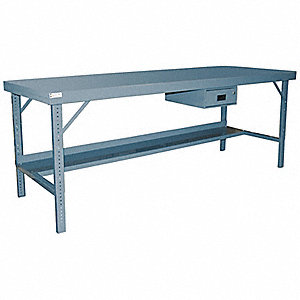 WORK BENCH FOLDN STEEL 36X60 #95 GY