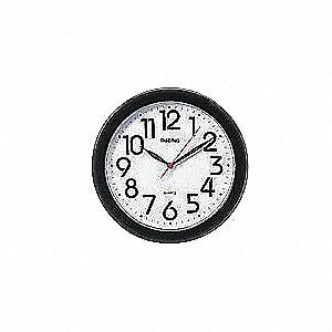 CLOCK WALL QUARTZ 10IN