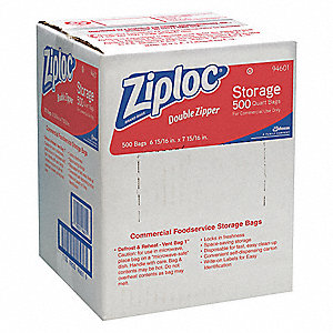 BAG ZIPLOC QT STORAGE 1.75MIL 500/C