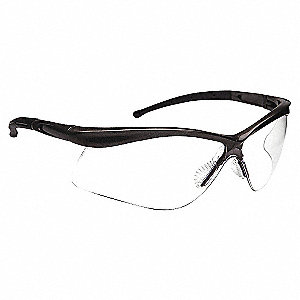 GLASSES SAFETY BLK FRAME/IO LENS
