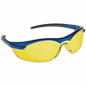 SAFETY GLASSES BLU FRAME/AMB LENS