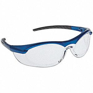 SAFETY GLASSES BLU FRAME/CLR LENS