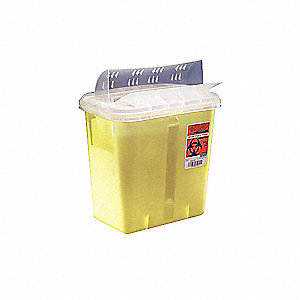 CONTAINER SHARPS SAFE YELLOW W/LID