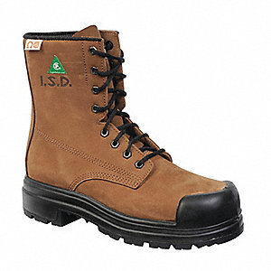 BOOT SAFETY 8IN ZERO METAL TAN