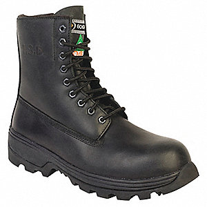BOOT SAF 8IN Z MET DYNA SP ZIP BLK