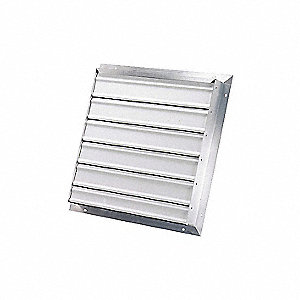 SHUTTER EXHAUST SGL PANEL ALUM 16IN