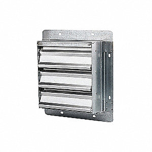 SHUTTER EXHAUST SGL PANEL GAL 20IN