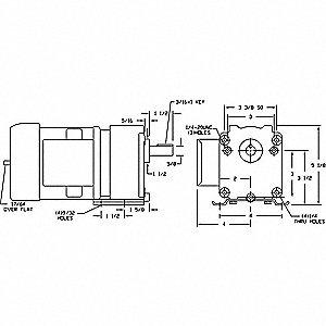 GEARMOTOR AC PARA SHIFT 40RPM 1/6HP
