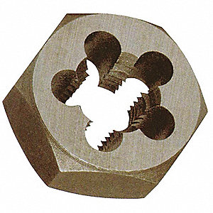 Hex Rethreading Die,Std 5/16In,18 Pitch