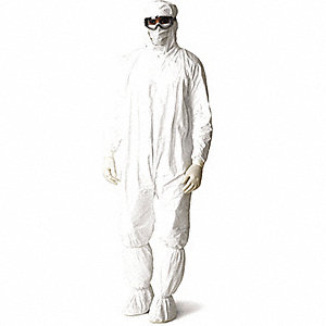 COVERALL BOUND SEAMS NO HOOD BULK