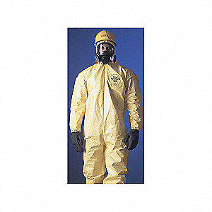 COVERALL,TYCHEM 2000,HOODED,SERGED,2XL