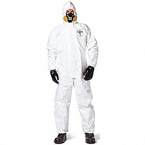 COVERALLS TYCHEM SL W HOOD + BOOTS