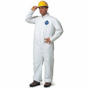 COVERALLS TYVEK ZIPPER ELAS WRISTS