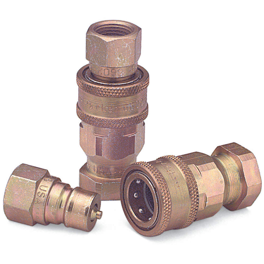 2 Available Parker 6602-12-12 Hydraulic Coupler Nipple