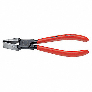 End Cutting Nippers,7 1/16 in Overall Length,15/16 in Jaw Width