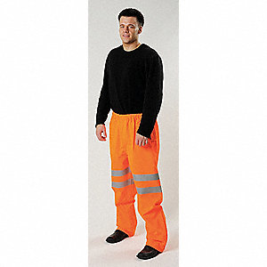 Hi-Vis Rain Pants,Hi-Vis Orange,XL