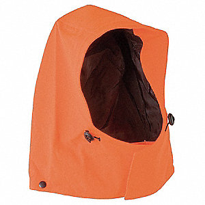.9mm GORE-TEX® Hi-Visibility Drawstring Rain Hood, Hi-Visibility Orange
