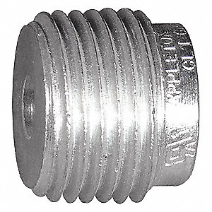 "Reducing Bushing, Aluminum, Male to Female Connection, 2-1/2 to 2"" Conduit Size"
