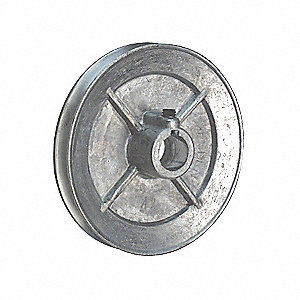 PULLEY SINGLE GROOVE 4X1/2IN