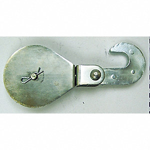 H.D. SINGLE HOOK PULLEY BLOCK 3IN