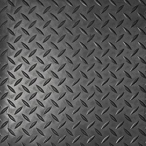 DIAMOND PLATE 1/8IN VINYL 3FTX75FT BLACK