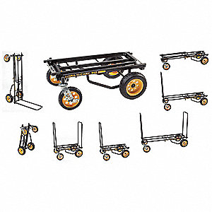Convertible Hand Truck, Steel, 500 lb., Overall Height 40-1/2""