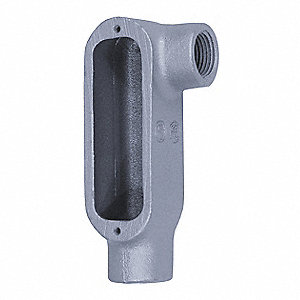 "LL-Style 1"" Conduit Outlet Body, Threaded Iron, 12.5 cu. in."