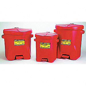 CAN OILY WASTE 14 GAL HDPE W/FOOT