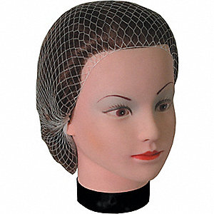 HAIRNET MED MESH 21IN  WH 144/BG