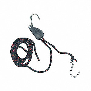 ROPE TIE-DWN RATCHT 150LB 1/4INX8FT
