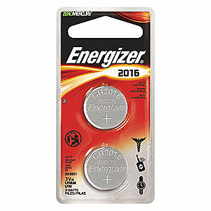 BATTERY LITH COIN TYPE ECR2016 2/PK
