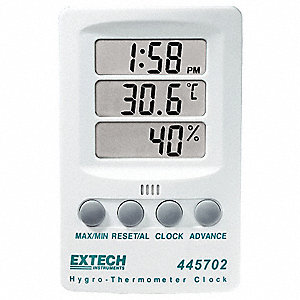 Extech Clock Hygro Thermometer Wall And Desk Hygrometers
