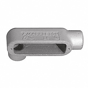"LR-Style 3/4"" Conduit Outlet Body, Threaded Iron, 8.0 cu. in."