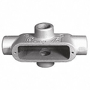 "X-Style 2"" Conduit Outlet Body, Threaded Iron, 105.0 cu. in."