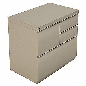 Combination File Cabinet,Taupe