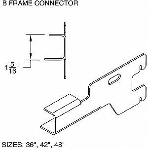 TYPE 1 FRAME CNCTR B 36 GREY