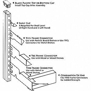 TRIM LINE SHELF CLP RGHT TSC-R PLTD