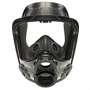 Bayonet Connection Full Face Respirator, 4 Point Suspension, S