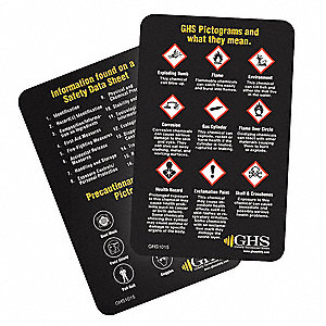 Wallet Card, Chemical/HAZMAT Trng, PK50