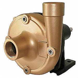 Centrifugal Pump Head, 5 HP Required, 1-1/2 Inlet (In.), 1-1/4 Outlet (In.)